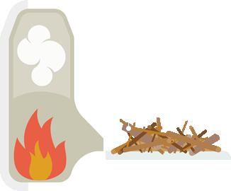 Fás szárú biomassza-tüzelésű kazán
