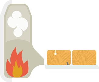 Bálázott lágyszárú biomassza-tüzelésű kazán